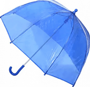 Totes Kids Clear Bubble Umbrella, Blue