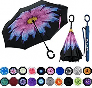 Mrtlloa Double Layer Inverted Umbrella with C-Shaped Handle