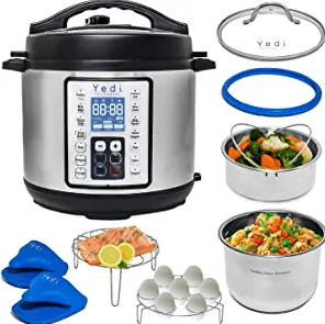 Yedi 9-in-1 Total Package Instant Programmable Pressure Cooker 6 Quart