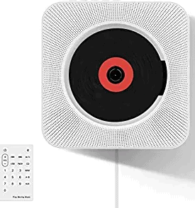 Wrcibo Wall-Mountable Bluetooth CD Player